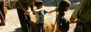 Archery practice with homeschoolers