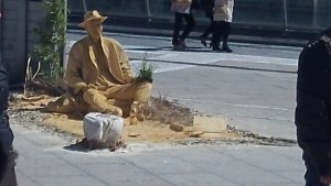 Living Statue at the Place de Comedie