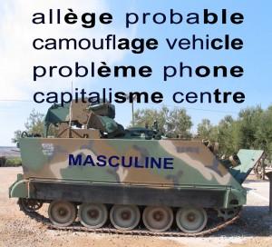 Mnemonic for Masculine Nouns