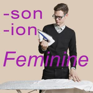 French feminine language -son and -ion